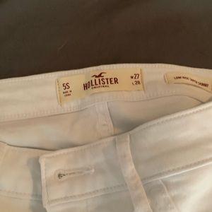 Hollister 5 short white jeans